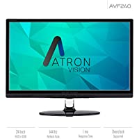 Atron Vision AVF240 24-Inch 144 Hz FHD Gaming Monitor. 1920x1080 LED Monitor, 1ms Response Time, Overclock Support, Built-In Speakers, Remote, Flicker Free