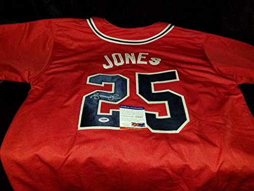 Atlanta Braves Andruw Jones Autographed Signed Jersey Memorabilia PSA/DNA Coa