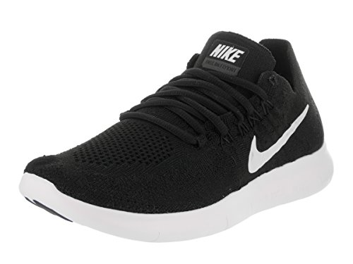Nike Women's Free Rn Flyknit 2017 Black/White Black Running Shoe 7.5 Women US