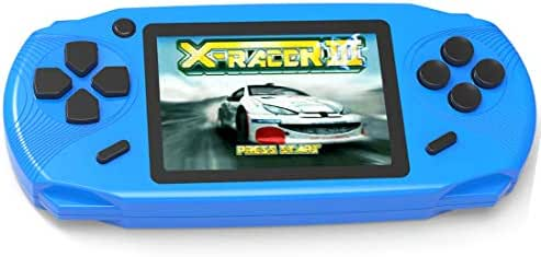Beijue 16 Bit Handheld Games for Kids Adults 3.0'' Large Screen Preloaded 100 HD Classic Retro Video Games no Need WiFi USB Rechargeable Seniors Electronic Game Player Birthday Xmas Present (Blue)
