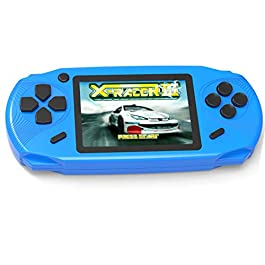 """Beijue 16 Bit Handheld Games for Kids Adults 3.0"""" Large Screen Preloaded 100 HD Classic Retro Video Games no Need WiFi USB Rechargeable Seniors Electronic Game Player Birthday Xmas Present (Blue)"""