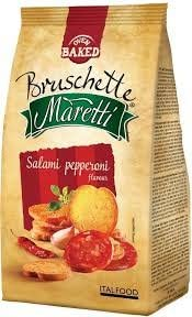 Bruschetta com Salami e Pepperoni Maretti
