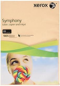 Xerox 003R93230 Sinfónica de papel de la impresora/copiadora, DIN A4, 160g / m², 250 hojas, salmón