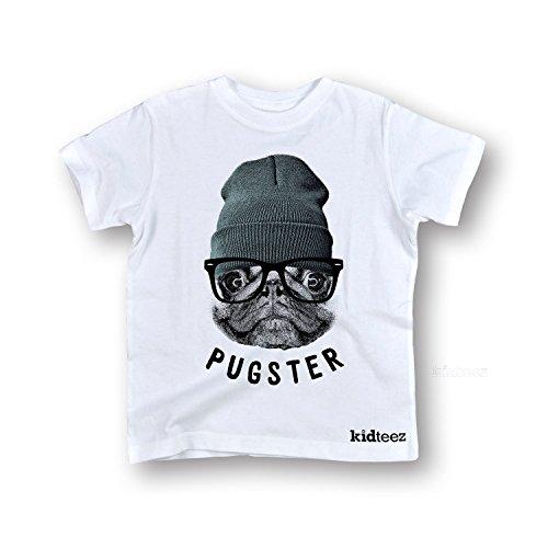 Pugster -Toddler Short Sleeve TEE-2T White