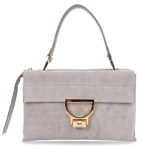 grey Arlettis french Coccinelle Schultertasche Suede aAqPPx1