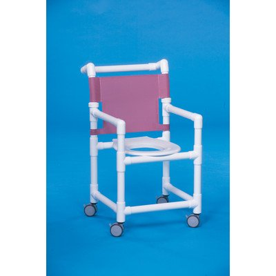 "Select Line Shower Chair Clearance Height: 20"", Mesh Backrest Color: Suncast Blue"