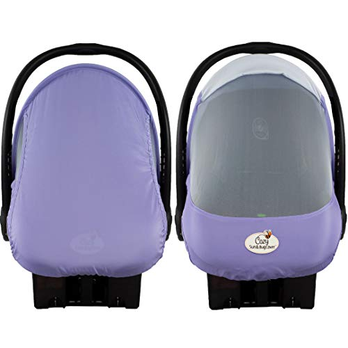 Summer Cozy Cover Sun & Bug Cover (Rhapsody Purple) - The Industry Leading Infant Carrier Cover Trusted by Over 2 Million Moms Worldwide for Protecting Your Baby from Mosquitos, Insects & The Sun ()