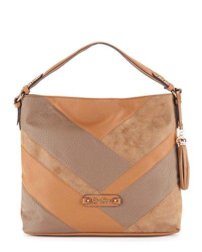 Jessica Simpson Helena Hobo Bag - Cognac/Truffle/Acorn