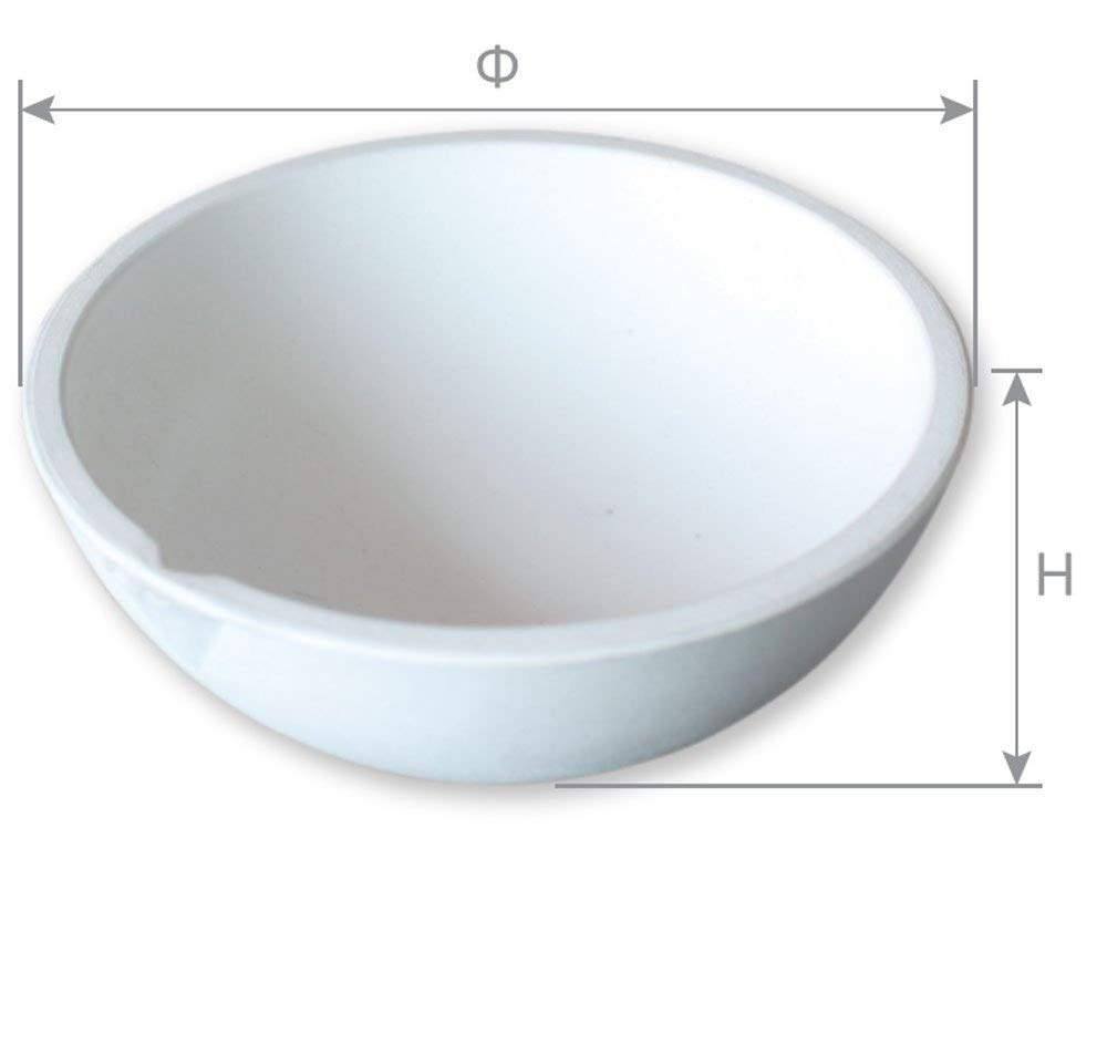 OTOOLWORLD Ceramic Crucible Bowl Dish Cup Furnace Melting Casting Refining Gold Silver (5000g)