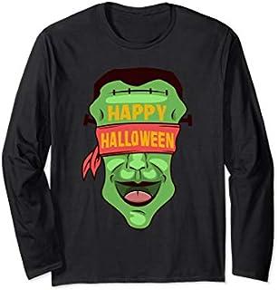 Happy Halloween | Trick Or Treat Frankenstein Halloween Long Sleeve T-shirt | Size S - 5XL