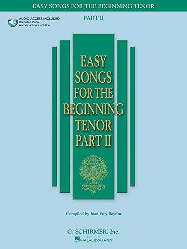 (Easy Songs For The Beginning Tenor Part Ii - Book/Online Audio)