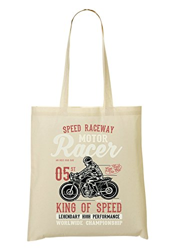 Speed Raceway Motor Racer King Of Speed Bolso De Mano Bolsa De La Compra
