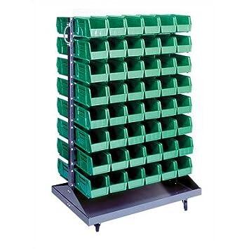 Funda para doble cara apersianado Rack con bandejas (paquete completo) Bin papelera de color