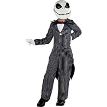 Party City The Nightmare Before Christmas Jack Skellington Pinstripe Halloween Costume for Boys, Med, with Accessories