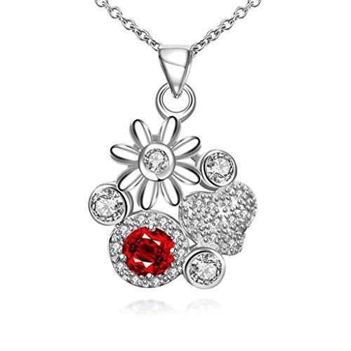 Women 925 Silver Plated Hollow Heart Pendant Necklace + Bracelet + Earrings Jewelry Set - 4