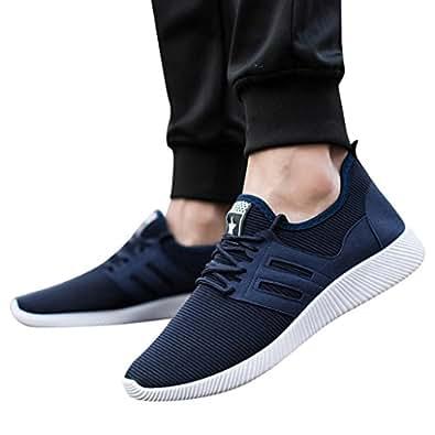 Zapatillas Deportivas Respirable para Hombre, QinMM Zapatos Gym Running con Cordones Transpirables Alpargatas Deportes: Amazon.es: Zapatos y complementos