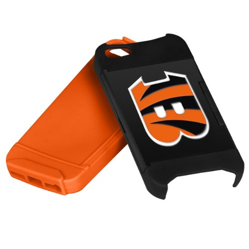 Forever Collectibles NFL Hideaway Credit Card iPhone 5 Hard Case - Retail Packaging - Cincinnati Bengals - Bengals Card