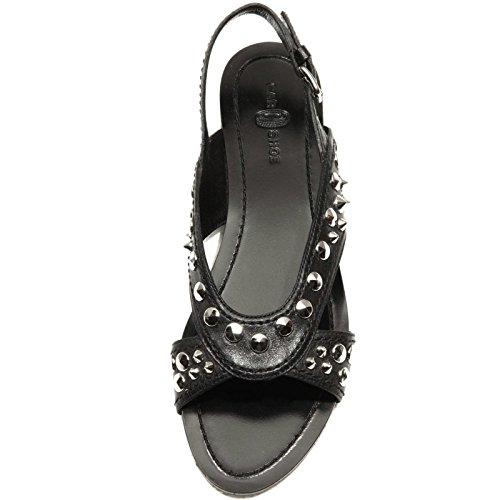 Car Donna Shoe Women 48057 Sandalo Scarpa Shoes Nero z7zPw