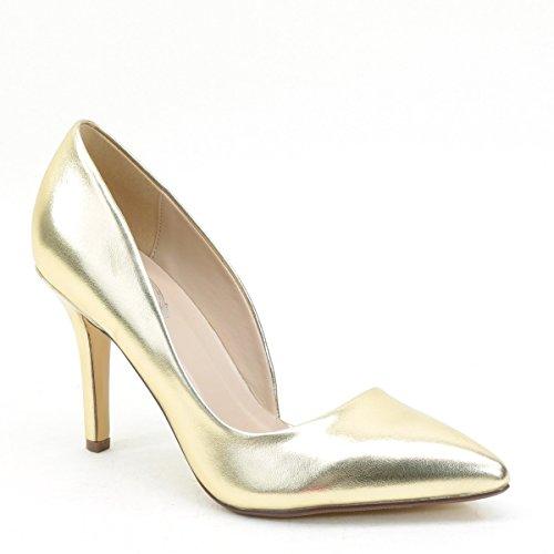 Women's Pointy Toe High Heels Bridal Evening Wedding Pump Shoes Gold 8
