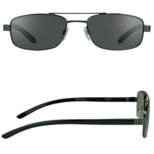 f28aa0c3919 Pilot Square Aviator Reading Glasses Tinted Full Lens Sun - Import It All
