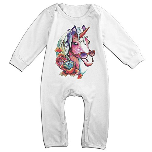 Refrigerator Magnet Halloween Costume (NOXIDN SMWI Baby Infant Romper Funky Unicorn Long Sleeve Jumpsuit Costume White 18 Months)
