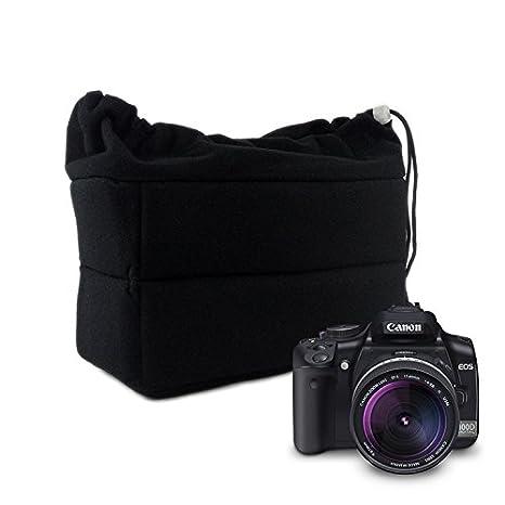 Amazon.com: Eleoption Shockproof cámara I nsert Bolsa, DSLR ...