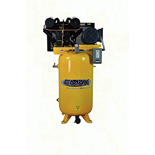 7.5 HP Quiet Air Compressor, Vertical, 1 PH, 80 Gallon, Industrial Plus Series, Model EP07V080V1 by EMAX Compressor