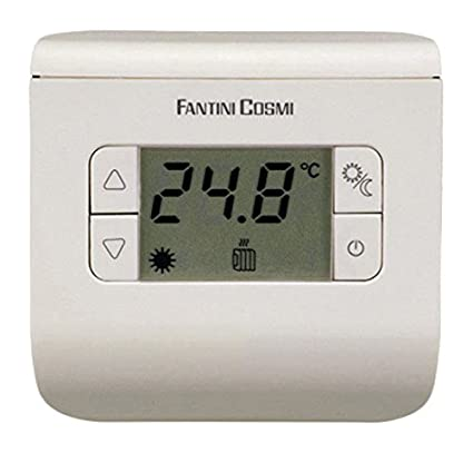 FANTINI COSMI ch112 Termostato Ambiente a Pilas, 3 temperaturas, Antracita