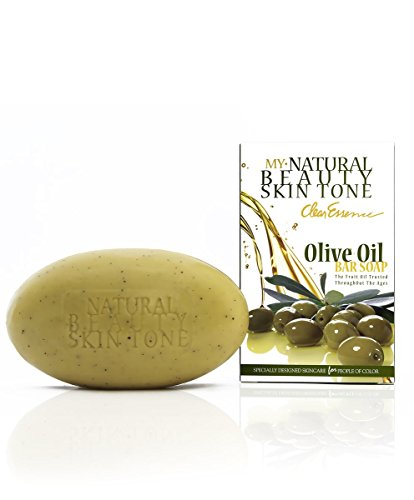 (VALUE PACK OF 3) CLEAR ESSENCE NATURAL BEAUTY SKIN TONE OLIVE OIL BAR SOAP 6oz