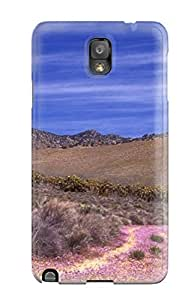 New Craigmmons Super Strong Wild Flowers Road Digital Tpu Case Cover For Galaxy Note 3