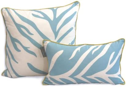 EZ Living Home H101D12TQ Zebra Decorative Pillow, Turquoise, 20×12, 20 x 12