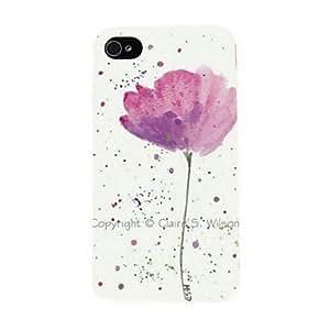 Zaki- A Beautiful Flower Pattern PC Hard Case for iPhone 4/4S