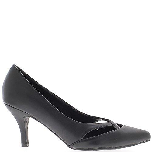 Scarpe grandi donne taglia nero tagliente 8,5 cm tacco