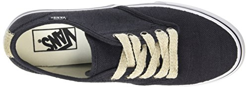 Zapatillas natural 5 EU Negro Stripe espadrille Negro natural Vans 34 espadrille Mujer Camden w1qE1Y4