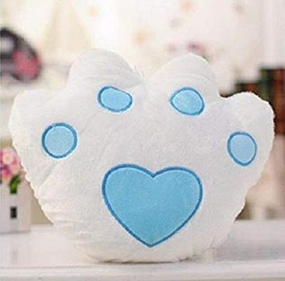 Almohada romántica con luz LED Cojín de Garra de Felpa Regalo para niñas Decoración para el hogar Blanco