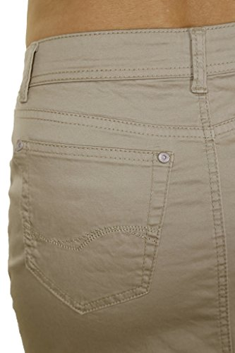 pour en Chinos Extensible Style Brillant Ice Beige Jupe 2516 Jeans Taille Grande qnwE80