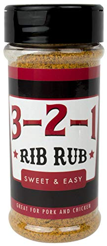 3-2-1 Rib Rub - Make Perfect BBQ Ribs, Chicken, and Pork Every Time - 3-Step Recipe Included (The Best Bbq Ribs Recipe Ever)