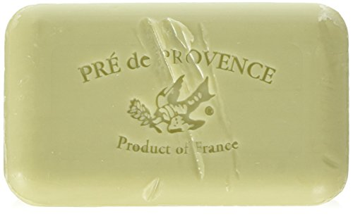 Provence Green Milled Soap - Pre de Provence Shea Butter Enriched Artisanal French Soap Bar (150 g) - Green Tea
