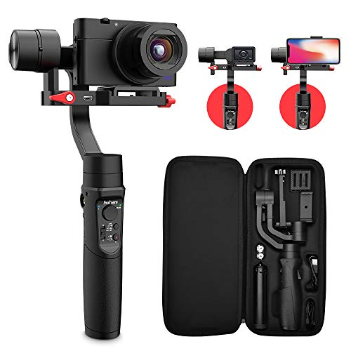 Hohem All in 1 3-Axis Gimbal Stabilizer for Digital Cameras/Action Camera/Smartphone w/ 600° Inception Mode, 400g Payload for iPhone Xs Max/Gopro Hero 7/Sony Compact Camera RX100 – iSteady Multi