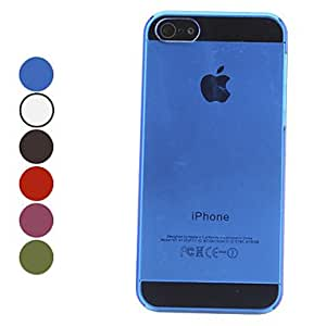ZXC Transparent Hard Case for iPhone 5/5S (Assorted Colors) , Rose