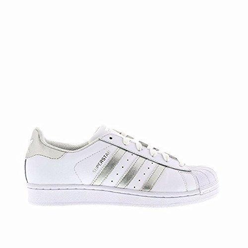 Adidas Superstar Mujer ISC Zapatillas - Blanco/Silvert, Mujer, 5 UK / 38 EU / 6.5 US: Amazon.es: Zapatos y complementos