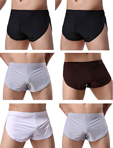 WINDAY Men's Boxer Underwear, Sexy Boxer Shorts Briefs Trunks Style Underpants 6 Packs