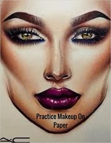 practice makeup on paper female faces large notebook ayens m
