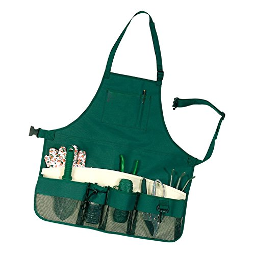- ACTLATI Multi-purpose Garden Tool Apron with Multifunction Pockets Waterproof Wear-resistant Professional for Garden Workers Cleaner