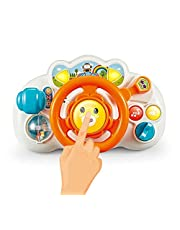 Chim Star QF366-033 Purrle Steering Wheel with Music And Light - Orange