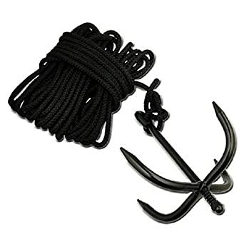 NEW Tactical Hook w/ 33 ft ROPE Bushcraft Boat Anchor NINJA ...