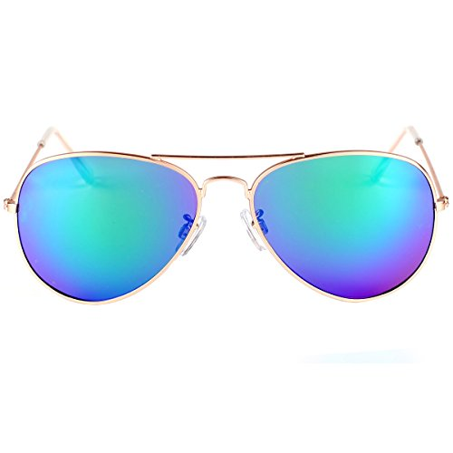 vivienfang Revo aviateur lunettes Gold soleil Cadre de Full Miroir lens Blue Premium en 85832 métal Frame aqwA4ap