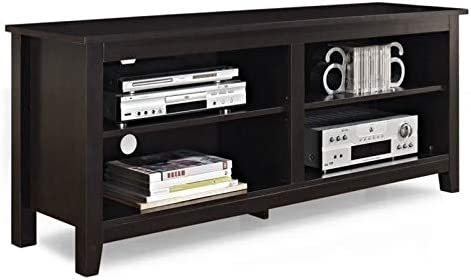 Pemberly Row 58″ Minimal Rustic Farmhouse Wood TV Stand Console