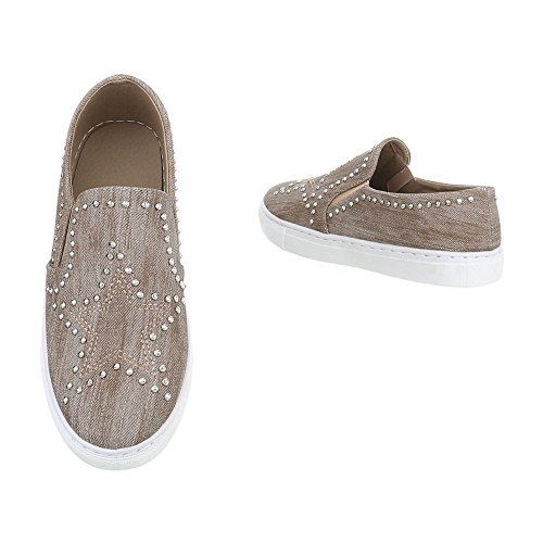 Mode Chaussures Low Femme Baskets Design Espadrilles Sneakers Ital Plat wIf1qIU