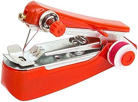 Mini máquinas de coser Costura portátil Inalámbrico Mini Ropa de mano Telas Máquina de coser Accesorios para el hogar venta caliente 2020, Aleatorio